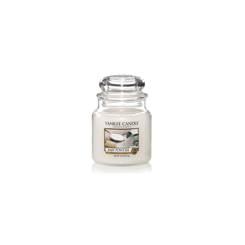 YANKEE CANDLE, Duftkerze Baby Powder medium Jar (411g)_38180