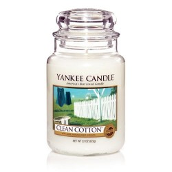 YANKEE CANDLE, Duftkerze Clean Cotton, large Jar (623g)_38186
