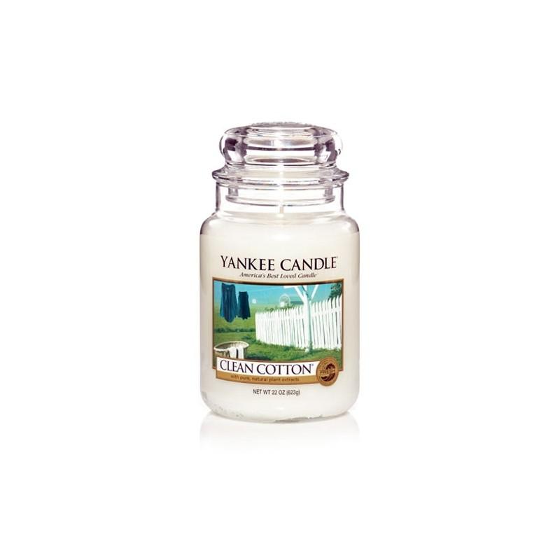 YANKEE CANDLE, Duftkerze Clean Cotton, large Jar (623g)_38186