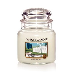 YANKEE CANDLE, Duftkerze Clean Cotton, medium Jar (411g)_38188