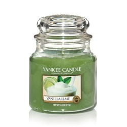 YANKEE CANDLE, Duftkerze Vanilla Lime, medium Jar (411g)_38268