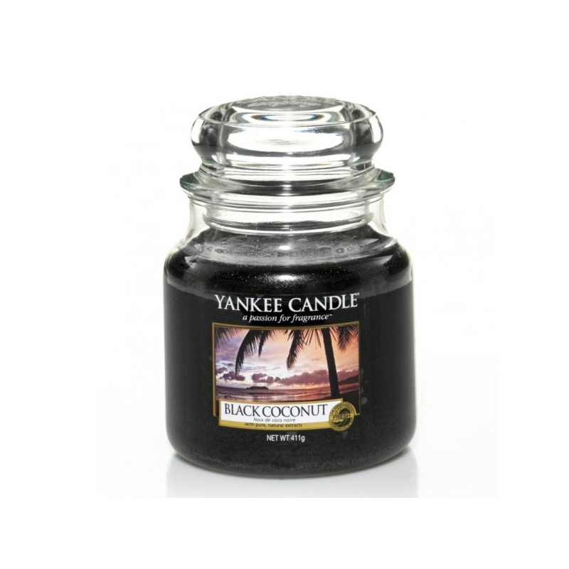 YANKEE CANDLE, Duftkerze Black Coconut, medium Jar (411g)_38343