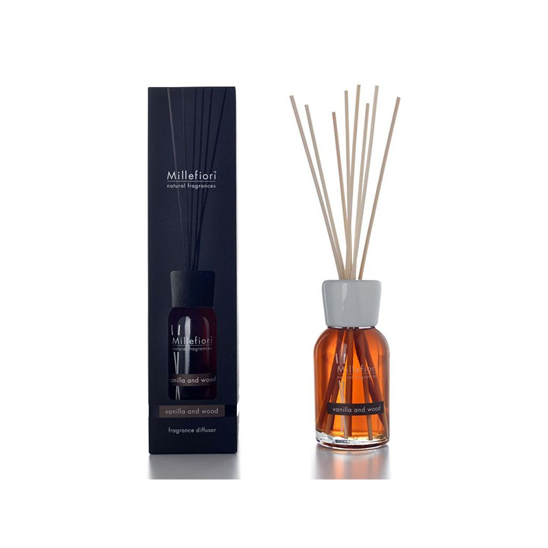 MILLEFIORI Natural, Fragrance Diffuser, Duft VANILLA & WOOD, 500ml_38650