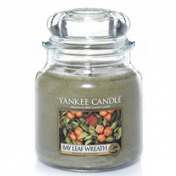 YANKEE CANDLE, Duftkerze Bay Leaf Wreath, medium Jar (411g)_39284