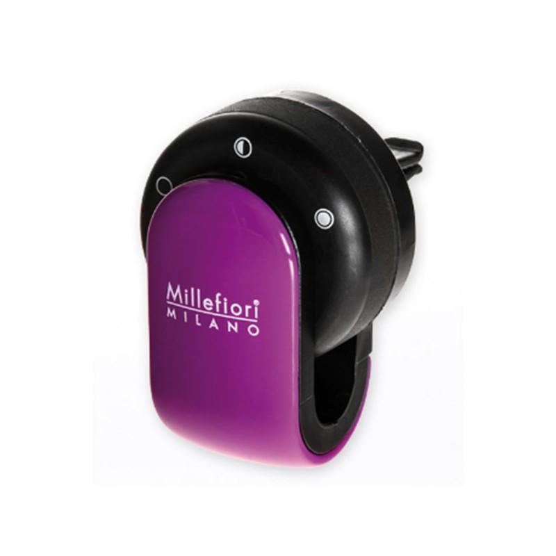 MILLEFIORI Car Air Freshener GO, Viola (Halter und 1 Duftkapsel Sandolo Bergamotto)_39609