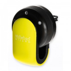 MILLEFIORI Car Air Freshener GO, Lime (Halter und 1 Duftkapsel Sandolo Bergamotto)_39614