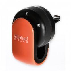 MILLEFIORI Car Air Freshener GO, Arancione (Halter und 1 Duftkapsel Sandolo Bergamotto)_39634