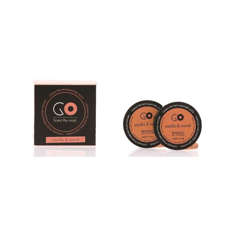 MILLEFIORI Car Air Freshener GO Refill 2-Kapseln, Vanilla-Wood_39645