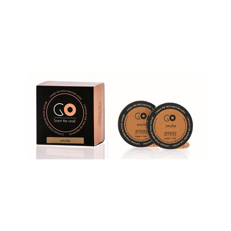 MILLEFIORI Car Air Freshener GO Refill 2-Kapseln, Antifumo / Anti-Smoke_39670