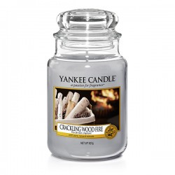 YANKEE CANDLE, Crackling Wood Fire, large Jar (623g)_39919