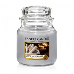 YANKEE CANDLE, Crackling Wood Fire, medium Jar (411g)_39922