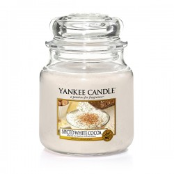 YANKEE CANDLE, Spiced White Cocoa, medium Jar (411g)_39927
